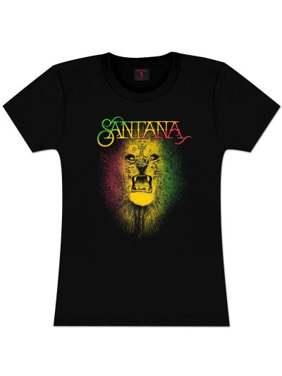 Santana Rasta Lion Junior's Fitted  T-Shirt