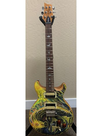 Carlos Santana Hand Signed PRS SE Model with Santana Africa Speaks Art