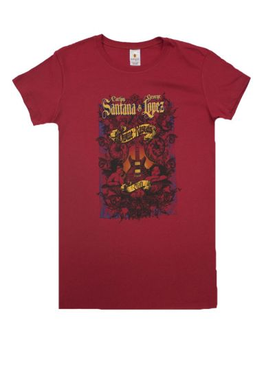Santana - Divine Rascals Angel 2011 Tour Junior's Fitted  T-Shirt