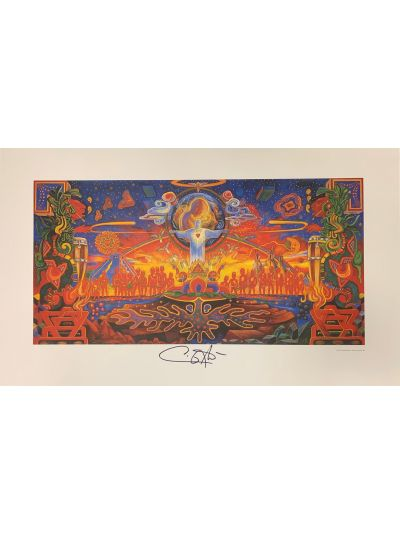 Autographed Santana Embrace Your Absoluteness Lithograph