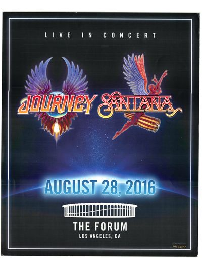 Santana and Journey Live in Concert at The Forum Los Angeles 8.28.16