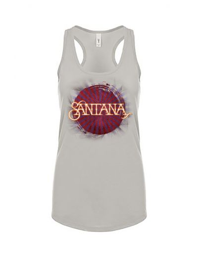 Santana - Burst Ladies Racerback Tank Top