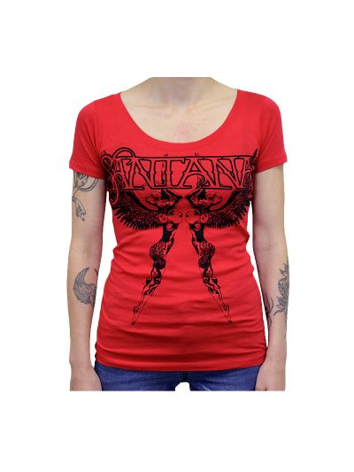 Santana - Double Angels Juniors Scoop Neck T-Shirt