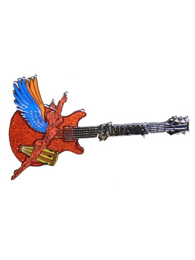 Supernatural Santana - Red Glitter Metal Pin